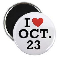 """I Heart October 23 2.25"""" Magnet (10 pack)"""