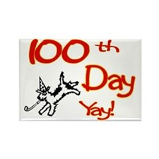 100th Day of School Yay Rectangle Magnet