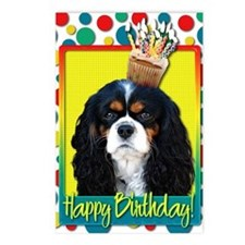 BirthdayCupcakeCavalierKi Postcards (Package of 8)
