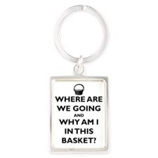 where-going-and-in-basket-black Portrait Keychain