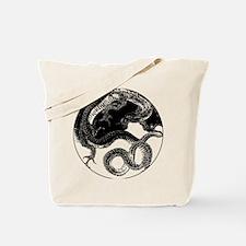 Yin Yang Dragon Enclosed Circle Tote Bag