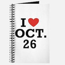 I Heart October 26 Journal