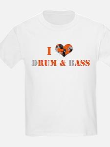 I Love dRum & bAss Kids T-Shirt