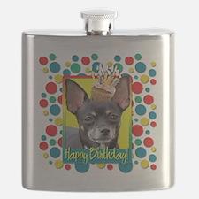 BirthdayCupcakeChihuahuaIsabellaCP Flask