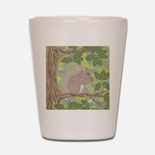Grey Squirrel Shot Glass