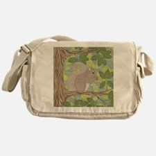 Grey Squirrel Messenger Bag