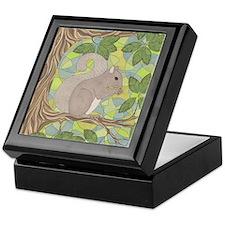Grey Squirrel Keepsake Box