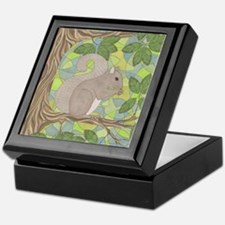 Grey Squirrel Keepsake Box