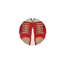 Red Sneakers Mini Button