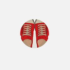 Red Sneakers Mini Button