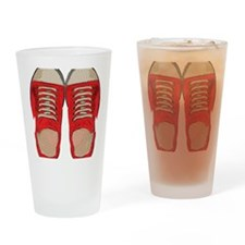Red Sneakers Drinking Glass