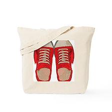 Red Sneakers Tote Bag