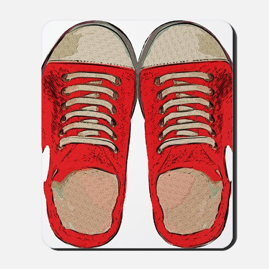 Red Sneakers Mousepad