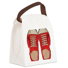 Red Sneakers Canvas Lunch Bag