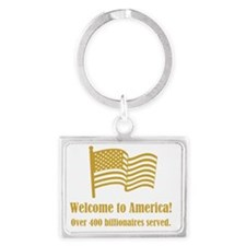 Welcome to America - Over 400 B Landscape Keychain