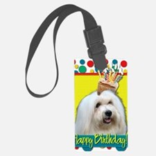 BirthdayCupcakeCotondeTulear Luggage Tag