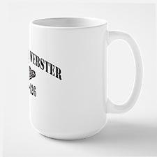 dwebster black letters Mug