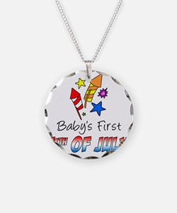 Babys First July 4th Necklace