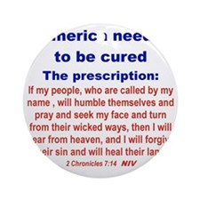 AMERICA NEEDS TO BE CURED... Round Ornament
