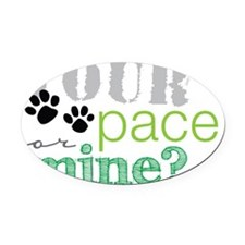 your pace dog Oval Car Magnet