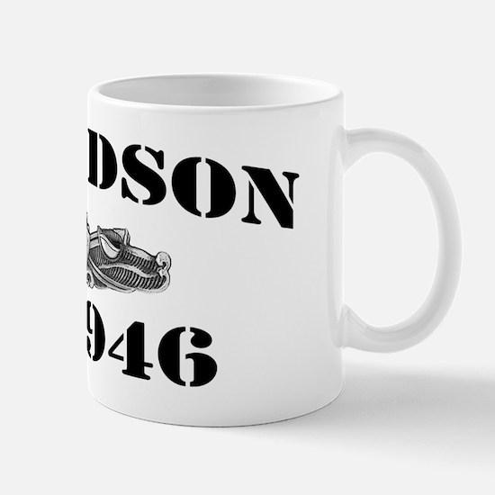 edson black letters Mug
