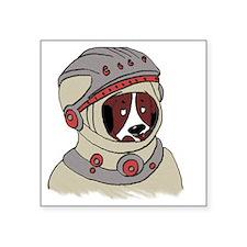 "doggy cosmonaut (smudgestic Square Sticker 3"" x 3"""