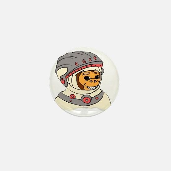monkey cosmonaut 3 Mini Button