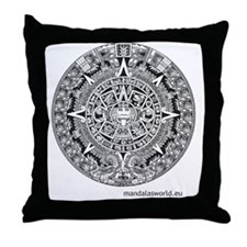 Mayan Calendar Throw Pillow