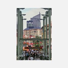 Chinatown Station - Singapore Rectangle Magnet