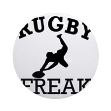 rugby Round Ornament