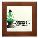 Groovy St. Patrick's Day Framed Tile