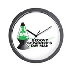 Groovy St. Patrick's Day Wall Clock