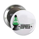 Groovy St. Patrick's Day Button