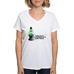 Groovy St. Patrick's Day Women's V-Neck T-Shirt