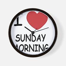 SUNDAY_MORNING Wall Clock