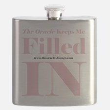 Keeps Me Filled In 10 x 10 HI Pink Black Flask