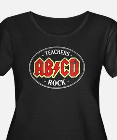 Vintage Teachers Rock (dark) Plus Size T-Shirt