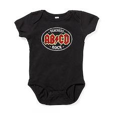 Vintage Teachers Rock (dark) Baby Bodysuit