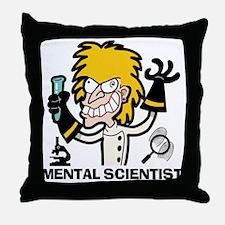 mentalscientistfemale2 Throw Pillow