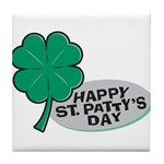 Happy St. Patty's Day Tile Coaster