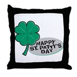 Happy St. Patty's Day Throw Pillow