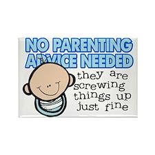 no parenting advice Rectangle Magnet