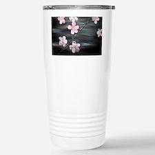 cherry blossom print Stainless Steel Travel Mug