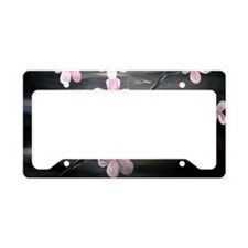 cherry blossom print License Plate Holder
