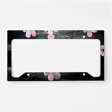cherry blossom print License Plate Holder
