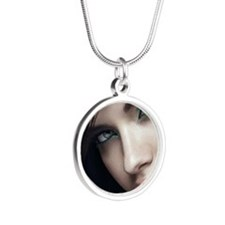 adriana_lima_2012-wallpaper- Silver Round Necklace