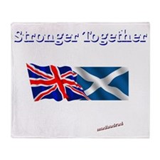 Stronger Together flags dark 6000 Throw Blanket