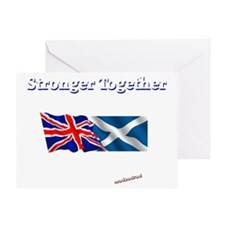 Stronger Together flags dark 6000 Greeting Card