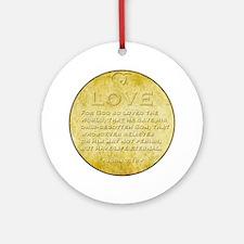 02-LoveCircle Round Ornament