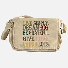 Live Simply Messenger Bag